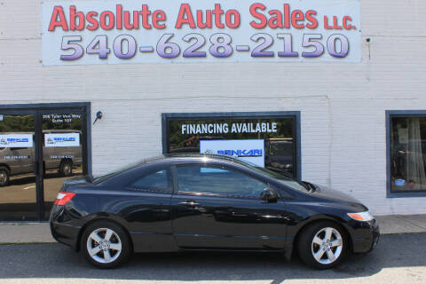 2008 Honda Civic for sale at Absolute Auto Sales in Fredericksburg VA