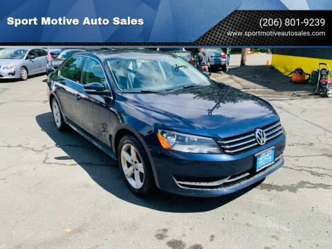 2015 Volkswagen Passat for sale at Sport Motive Auto Sales in Seattle WA