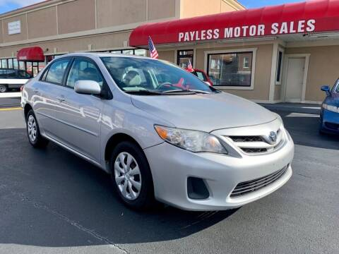 2011 Toyota Corolla for sale at Payless Motor Sales LLC in Burlington NC