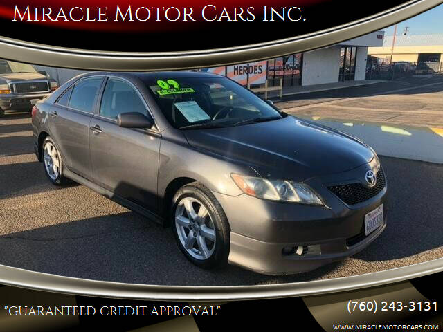 2009 Toyota Camry for sale at Miracle Motor Cars Inc. in Victorville CA