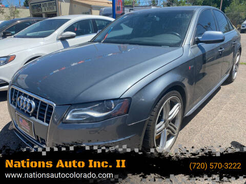 2012 Audi S4 for sale at Nations Auto Inc. II in Denver CO