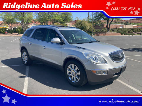 2012 Buick Enclave for sale at Ridgeline Auto Sales in Saint George UT