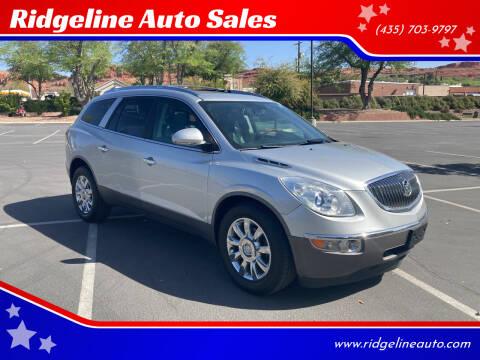 2012 Buick Enclave for sale at Ridgeline Auto Sales in Saint George UT