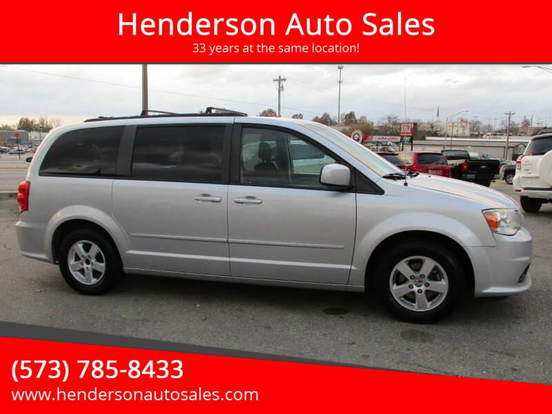 2012 Dodge Grand Caravan for sale at Henderson Auto Sales in Poplar Bluff MO
