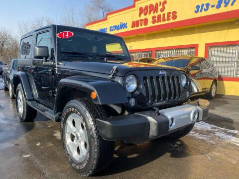 2014 Jeep Wrangler for sale at Popas Auto Sales in Detroit MI