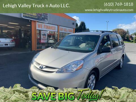 2010 Toyota Sienna for sale at Lehigh Valley Truck n Auto LLC. in Schnecksville PA