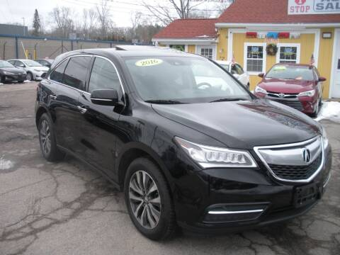2016 Acura MDX for sale at One Stop Auto Sales in North Attleboro MA