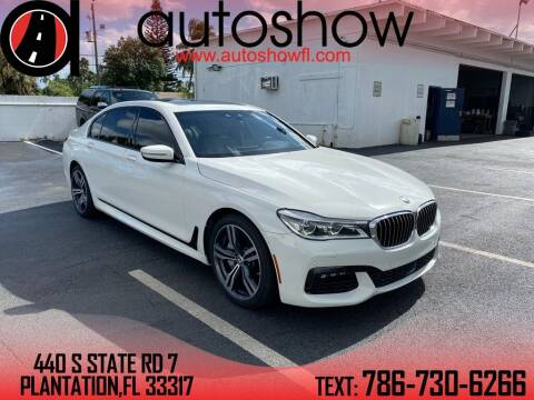 2017 BMW 7 Series for sale at AUTOSHOW SALES & SERVICE in Plantation FL