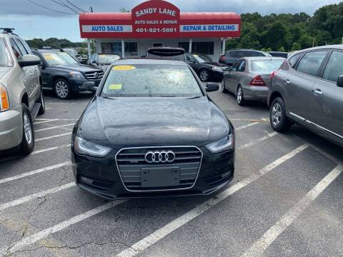 2013 Audi A4 for sale at Sandy Lane Auto Sales and Repair in Warwick RI