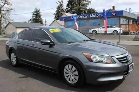 2012 Honda Accord for sale at All American Motors in Tacoma WA