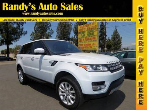 2016 Land Rover Range Rover Sport for sale at Randy's Auto Sales in Ontario CA