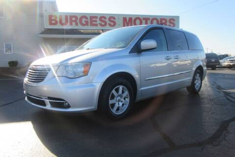 2012 Chrysler Town and Country for sale at Burgess Motors Inc in Michigan City IN