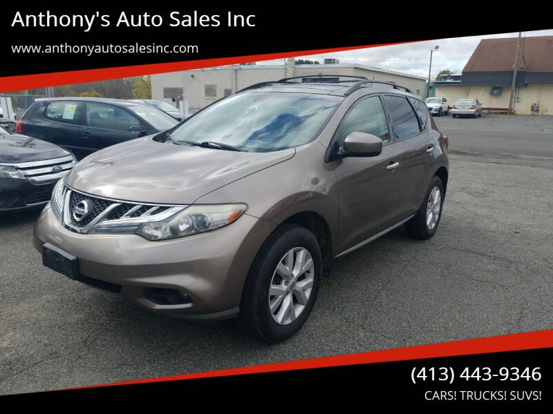 2011 Nissan Murano for sale at Anthony's Auto Sales Inc in Pittsfield MA