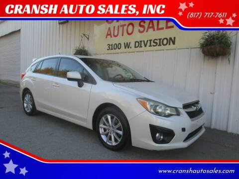 2012 Subaru Impreza for sale at CRANSH AUTO SALES, INC in Arlington TX