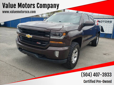 2016 Chevrolet Silverado 1500 for sale at Value Motors Company in Marrero LA