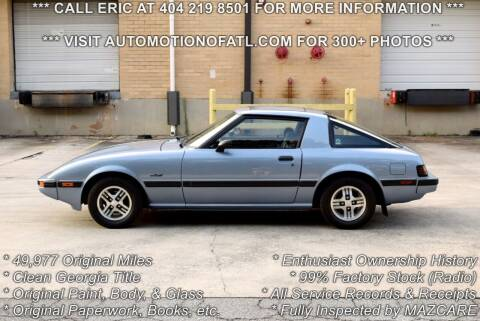 1983 Mazda RX-7 for sale at Automotion Of Atlanta in Conyers GA