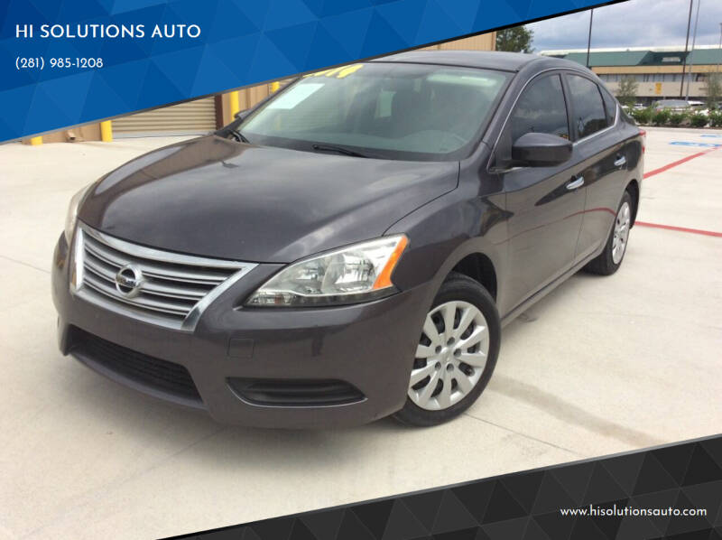 2014 Nissan Sentra for sale at HI SOLUTIONS AUTO in Houston TX