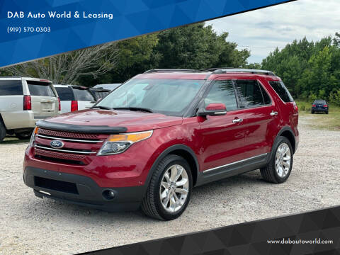 2013 Ford Explorer for sale at DAB Auto World & Leasing in Wake Forest NC