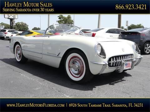 1954 Chevrolet Corvette for sale at Hawley Motor Sales in Sarasota FL