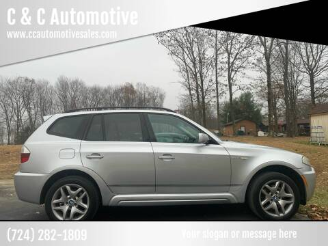 2007 BMW X3 for sale at C & C Automotive in Chicora PA