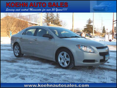 2012 Chevrolet Malibu for sale at Koehn Auto Sales in Lindstrom MN