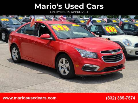 2015 Chevrolet Cruze for sale at Mario's Used Cars in Houston TX