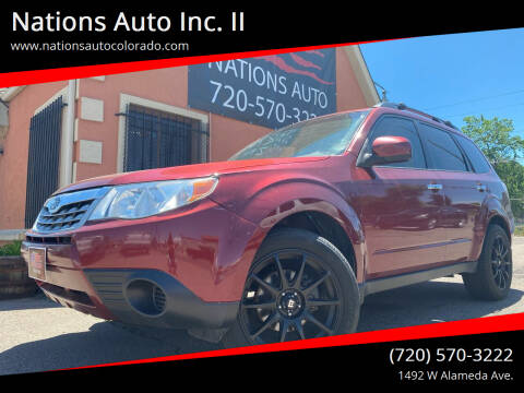2011 Subaru Forester for sale at Nations Auto Inc. II in Denver CO