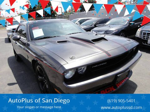 2014 Dodge Challenger for sale at AutoPlus of San Diego in Spring Valley CA
