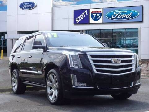 2017 Cadillac Escalade for sale at Szott Ford in Holly MI