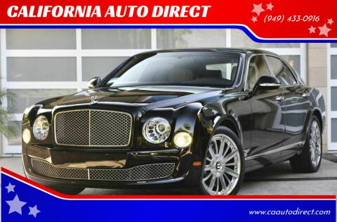 2015 Bentley Mulsanne for sale at CALIFORNIA AUTO DIRECT in Costa Mesa CA