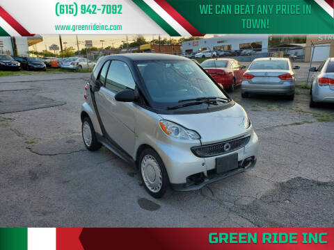 2015 Smart fortwo for sale at Green Ride Inc in Nashville TN