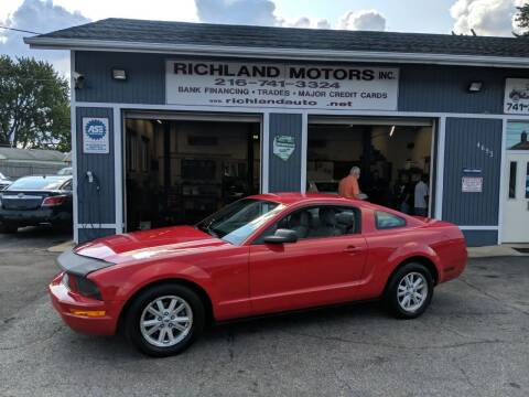 2008 Ford Mustang for sale at Richland Motors in Cleveland OH