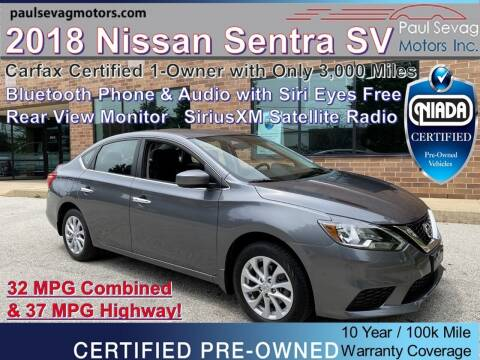 2018 Nissan Sentra for sale at Paul Sevag Motors Inc in West Chester PA