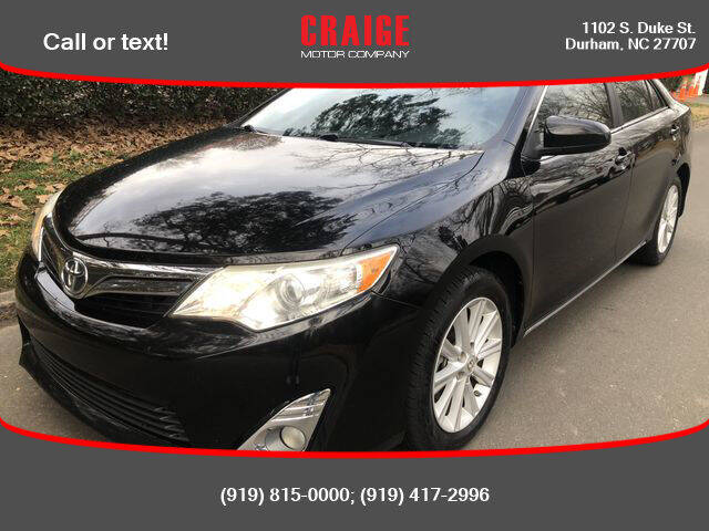 2013 Toyota Camry for sale at CRAIGE MOTOR CO in Durham NC
