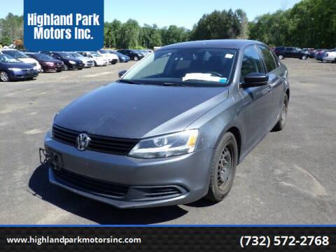 2013 Volkswagen Jetta for sale at Highland Park Motors Inc. in Highland Park NJ