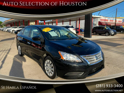 2015 Nissan Sentra for sale at Auto Selection of Houston in Houston TX
