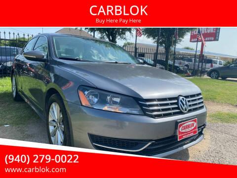 2012 Volkswagen Passat for sale at CARBLOK in Lewisville TX