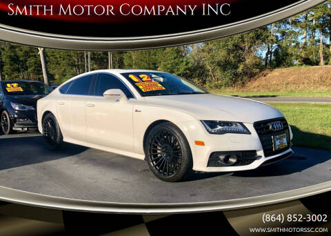 2012 Audi A7 for sale at Smith Motor Company INC in Mc Cormick SC