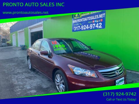 2012 Honda Accord for sale at PRONTO AUTO SALES INC in Indianapolis IN