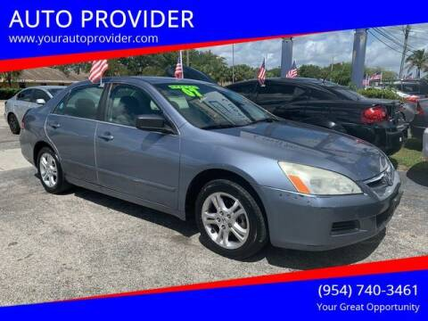2007 Honda Accord for sale at AUTO PROVIDER in Fort Lauderdale FL