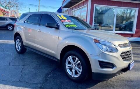 2016 Chevrolet Equinox for sale at Latino Motors in Aurora IL