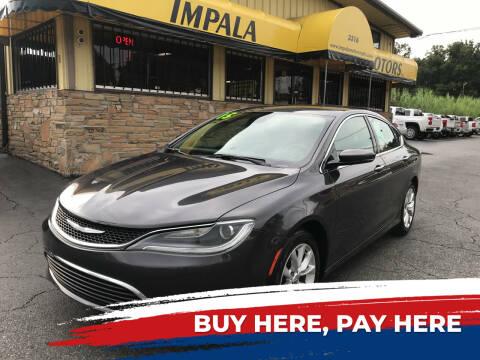 2015 Chrysler 200 for sale at IMPALA MOTORS in Memphis TN