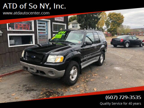 2003 Ford Explorer Sport for sale at ATD of So NY, Inc. in Johnson City NY