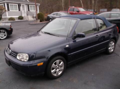 2001 Volkswagen Cabrio for sale at Depot Auto Sales Inc in Palmer MA