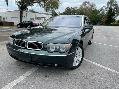 2005 BMW 7 Series for sale at CHECK  AUTO INC. in Tampa FL