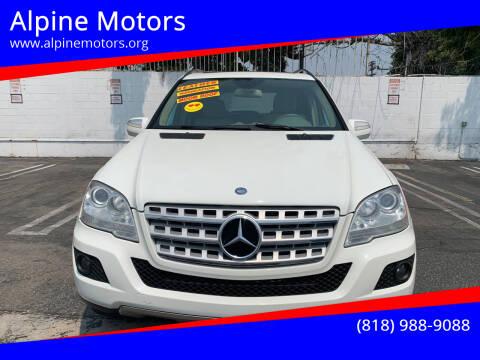 2009 Mercedes-Benz M-Class for sale at Alpine Motors in Van Nuys CA