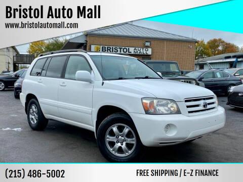 2004 Toyota Highlander for sale at Bristol Auto Mall in Levittown PA