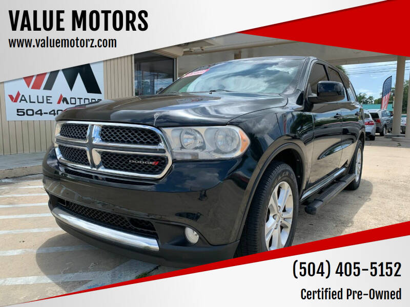 2013 Dodge Durango for sale at VALUE MOTORS in Kenner LA