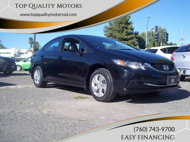 2013 Honda Civic for sale at Top Quality Motors in Escondido CA