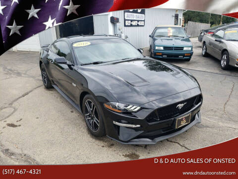 2018 Ford Mustang for sale at D & D Auto Sales Of Onsted in Onsted MI